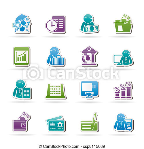 Bank and Finance Icons  - csp8115089
