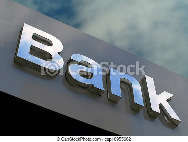 bank, buero, zeichen - csp10955662