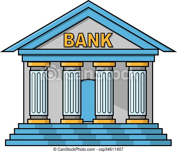 bank building illustration design vector clipart search rh canstockphoto com mobile banking clipart banking clip art images