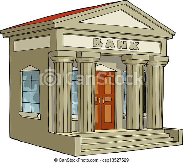 Bank Building On A White Background Vector Illustration