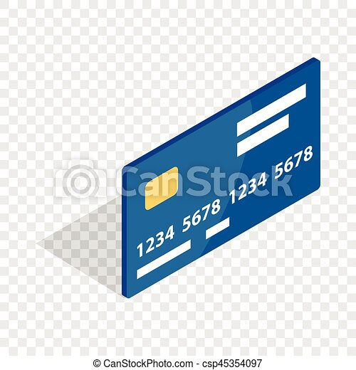 bank card isometric icon 3d on a transparent background vector