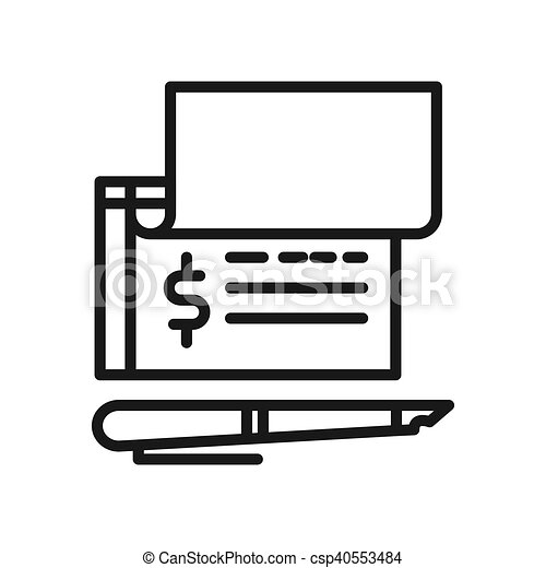 bank check payment vector illustration design rh canstockphoto com Check Writing Clip Art Blank Check Template Clip Art