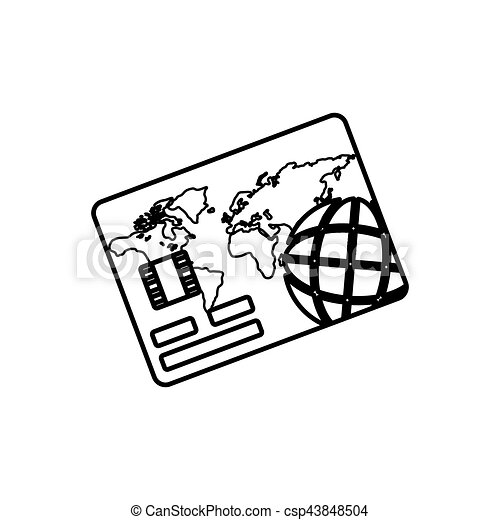Bank Credit Card Icon Vector Illustration Graphic Design