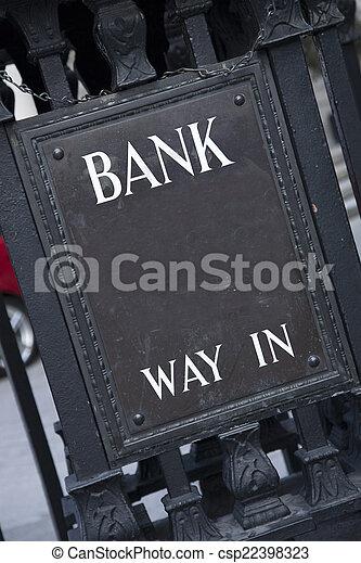 Bank Entrance Sign - csp22398323