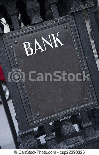 Bank Entrance Sign - csp22398326