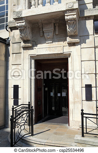 Bank Entrance - csp25534496