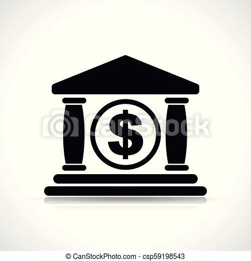 bank icon on white background - csp59198543