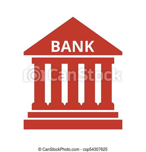 Bank icon on white background. - csp54307625