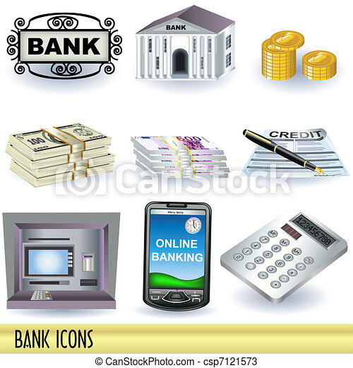 Bank Icons - csp7121573