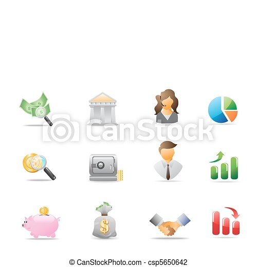 bank icons - csp5650642