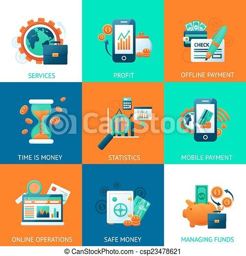 Bank icons set - csp23478621