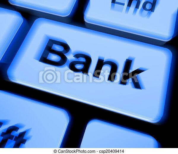 Bank Keyboard Shows Online Or Internet Banking - csp20409414