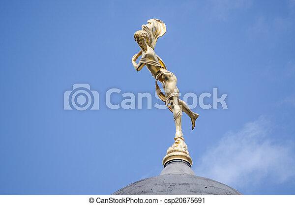 Bank of England statue, Ariel - csp20675691