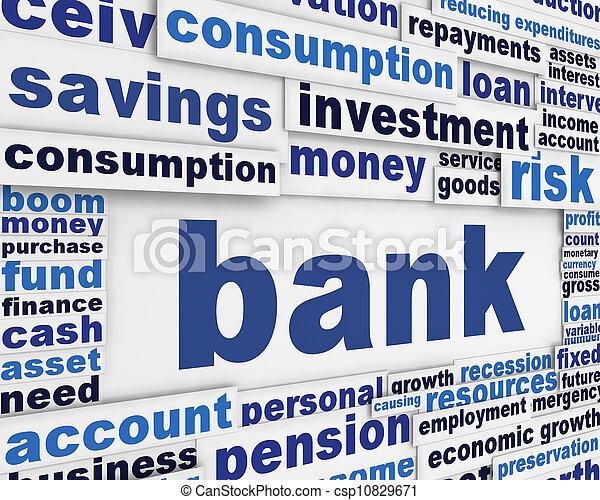 Bank poster design - csp10829671