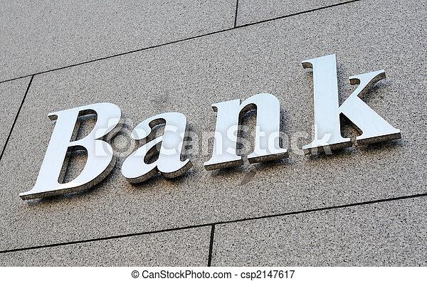Bank sign - csp2147617