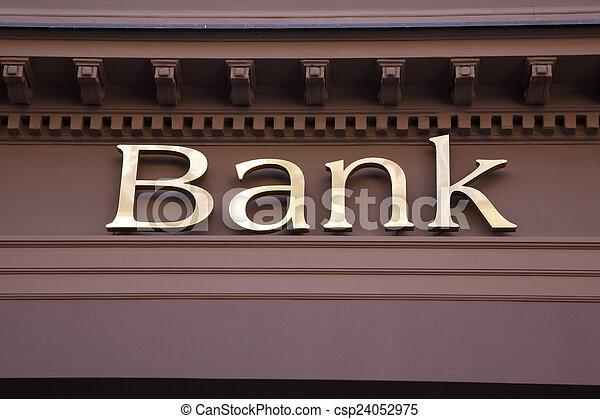 Bank Sign - csp24052975