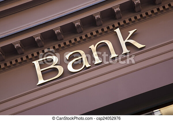 Bank Sign - csp24052976