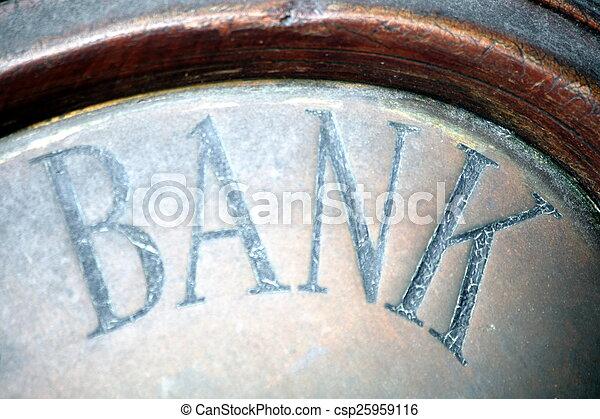 Bank Sign - csp25959116
