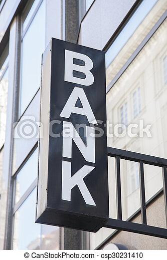 Bank Sign - csp30231410