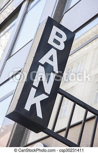 Bank Sign - csp30231411