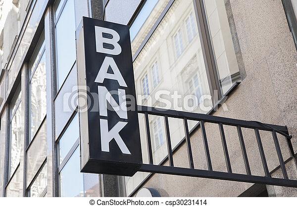 Bank Sign - csp30231414