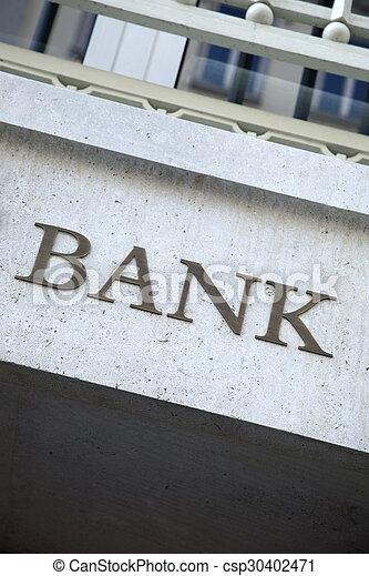 Bank Sign - csp30402471