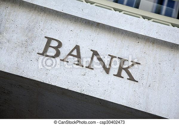 Bank Sign - csp30402473