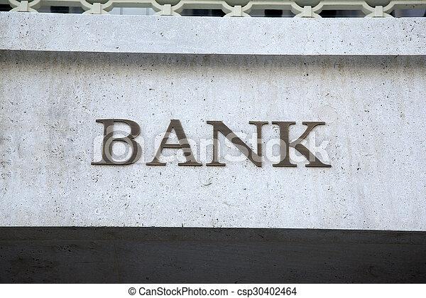 Bank Sign - csp30402464