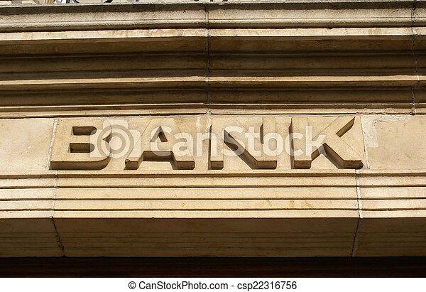 bank sign - csp22316756