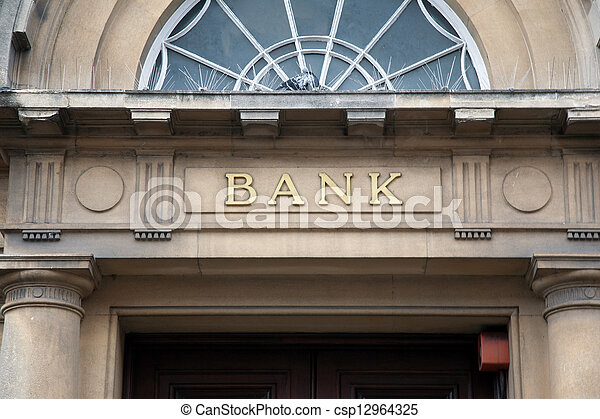 Bank Sign - csp12964325