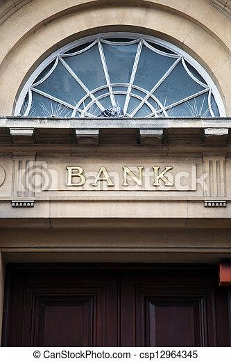 Bank Sign - csp12964345