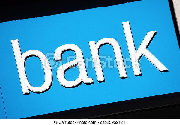 Bank Sign - csp25959121