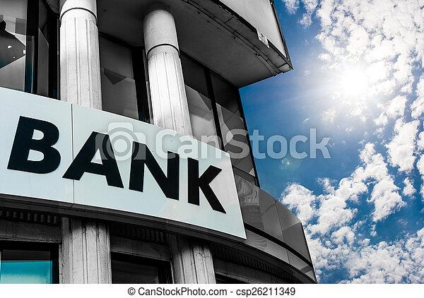 Bank Sign - csp26211349