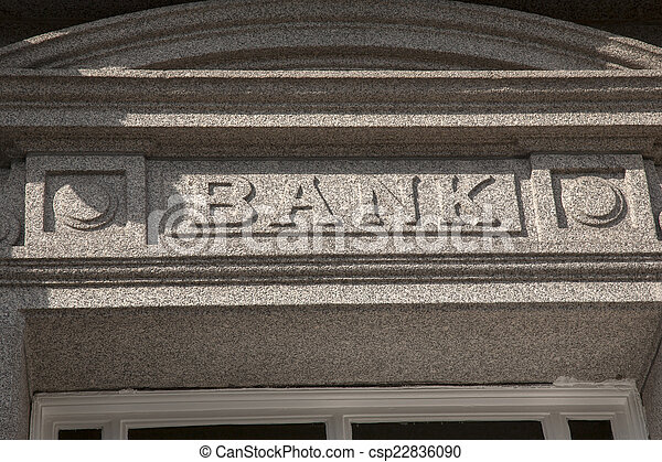 Bank Sign - csp22836090