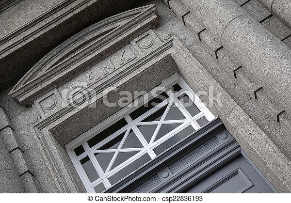 Bank Sign - csp22836193
