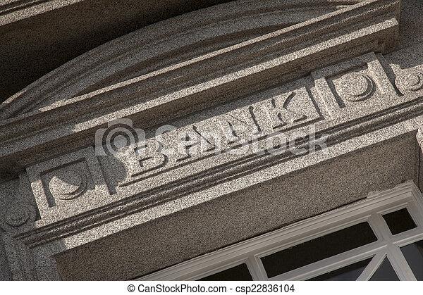 Bank Sign - csp22836104