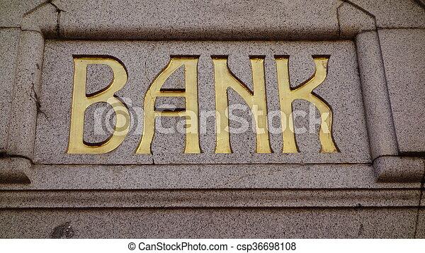 Bank Sign - csp36698108