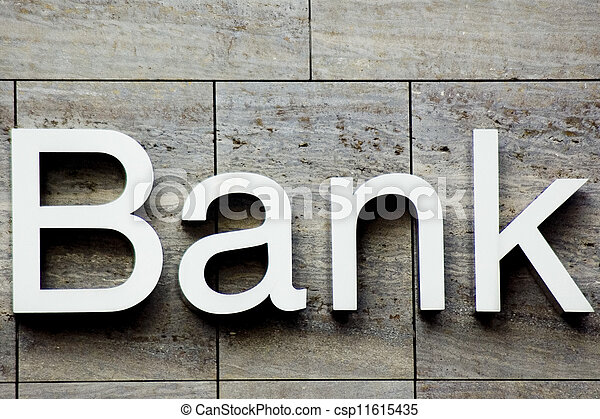 Bank sign - csp11615435