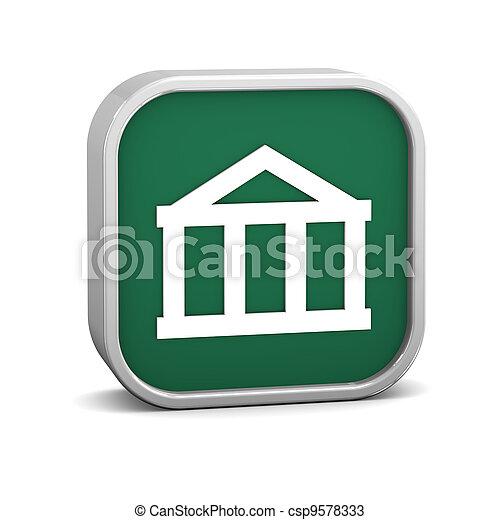 Bank sign - csp9578333