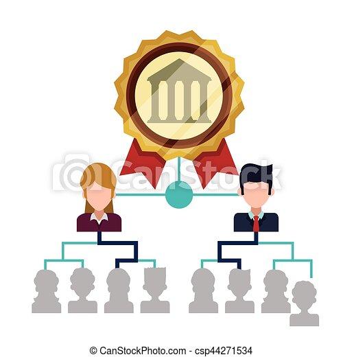 bank staff structure management organization vector vectors rh canstockphoto com clipart management gratuit management clip art free