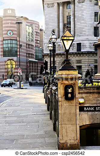 Bank station entrance in London - csp2456542