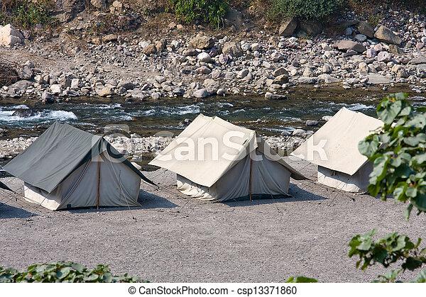 banken, river., lager, ganges, india. - csp13371860