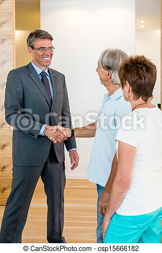 Banker and Senior Couple - csp15666182