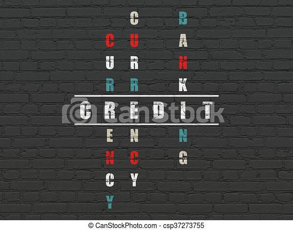 Banking concept: Credit in Crossword Puzzle - csp37273755