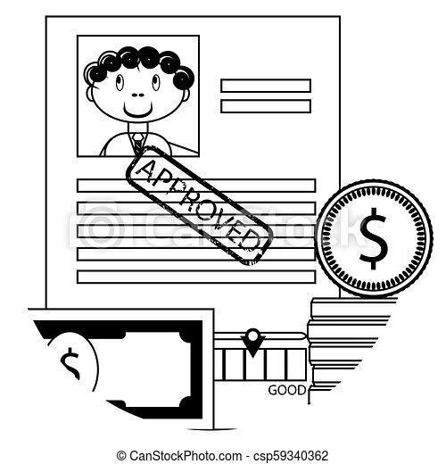 Banking lending icon - csp59340362