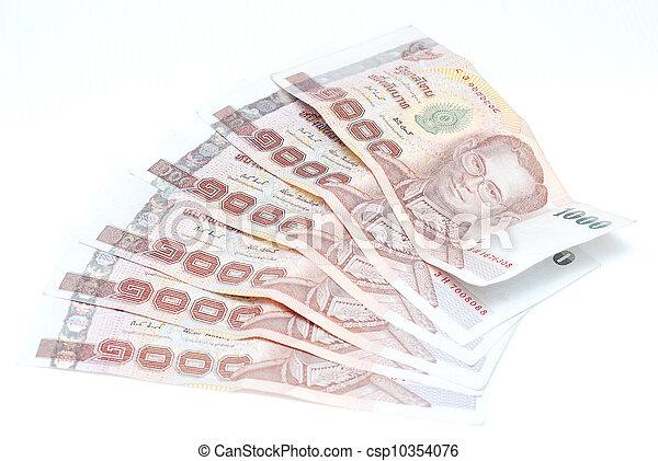 banknote money on white background - csp10354076