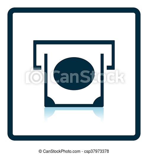 banknote sliding from atm slot icon shadow reflection vectors rh canstockphoto ie arm clip art atm card clipart