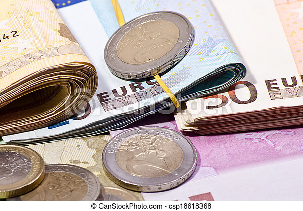 banknotes and coins - csp18618368