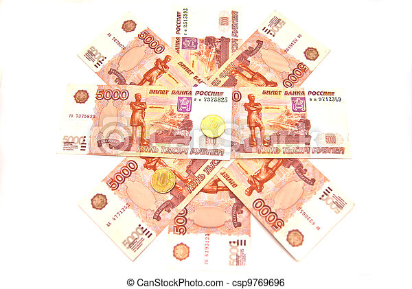 Banknotes and coins - csp9769696