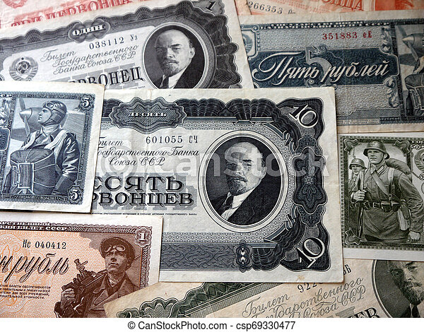 Banknotes of the Soviet Union - csp69330477
